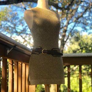 Ralph Lauren Metalic Sweater Tunic.  Extra Small